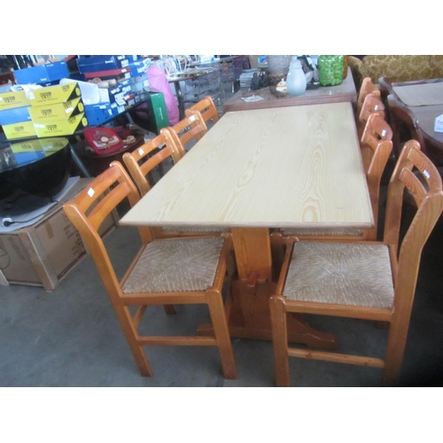 16 - Wooden Kitchen Table with 6 Matching Chairs-Code AM7022E,AM7021J,AM7021M,AM7021N,AM7021H,AM7021D,AM7...