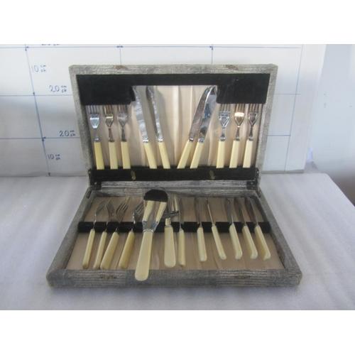 37 - Vintage Sheffield Cutlery in Original Box (22pcs)...