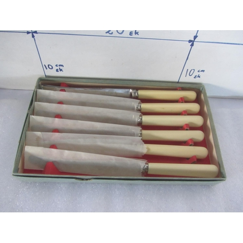 38 - Vintage Cox Co Ltd Sheffield Set of 6 Kitchen Knives...