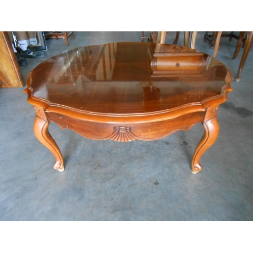 25 - Large Round Marquetry Coffee Table...