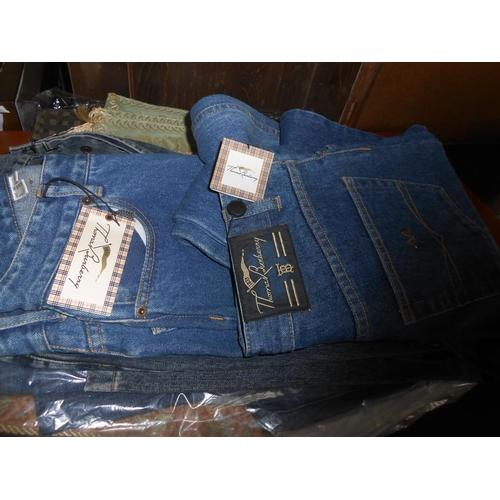 42 - x2 Thomas Burberry St Louis Zip Denim Jeans Size 30 (New)...