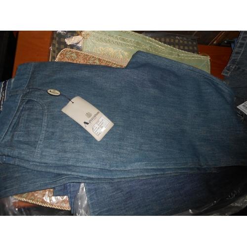 12 - Aquascutum London Michael LSR TR Denim Jeans Size 36 (New)...