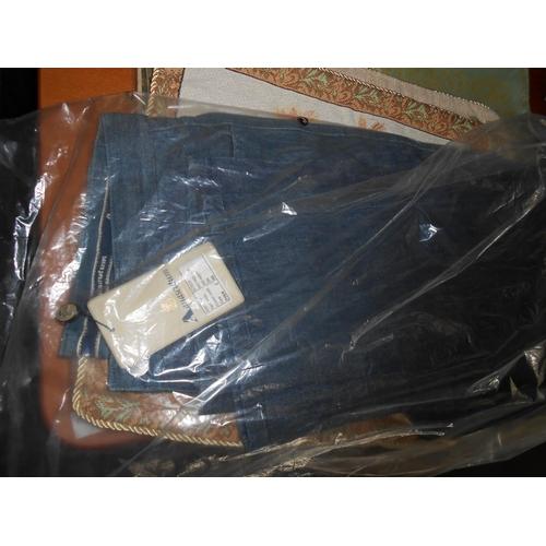 13 - Aquascutum London Michael LSR TR Denim Jeans Size 34 (New)...