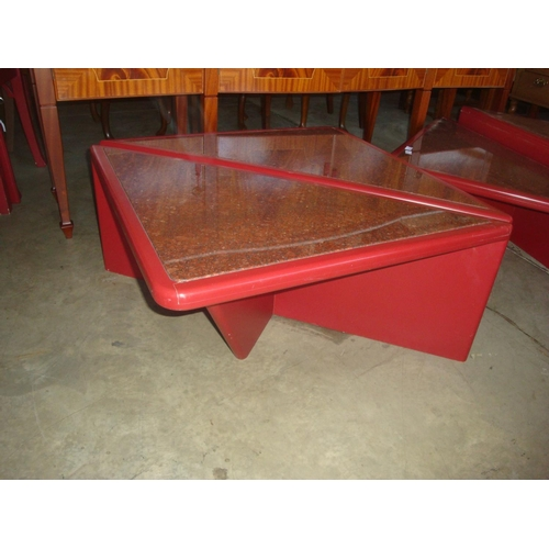 45 - Granite Topped Two Piece Design Coffee Table...