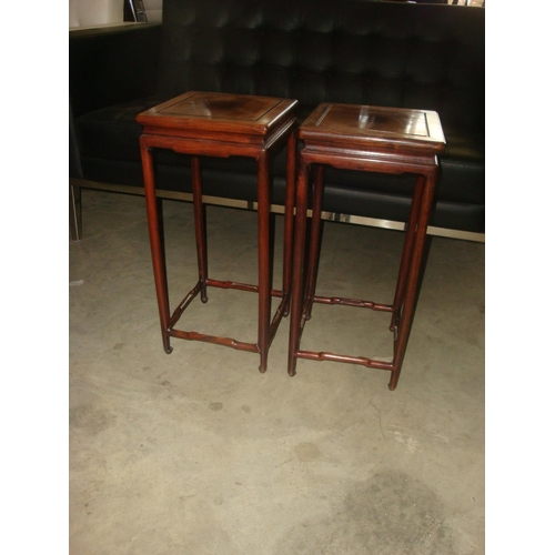 27 - Pair of Vintage Wooden Side Tables/Flower Stands...