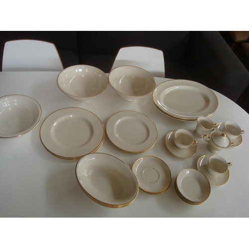 41 - Pickard China (USA) Hand Decorated Porcelain Dinner Set Golden Trim (330 Pieces)...