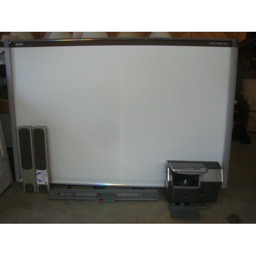 4 - Smart Interactive Board 800  DViT (Dual Touch Base) with Projector and Speakers (RRP 7350 USD)-Code ...