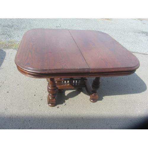 10 - Antique Solid Oak Extendable Table...