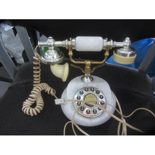 5 - Vintage Onyx Telephone...