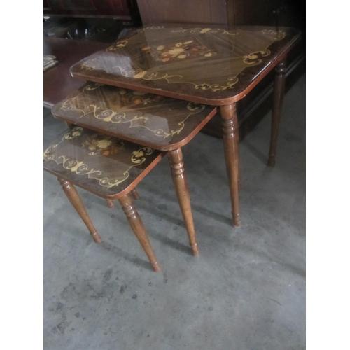 60 - Nest of Three Ornate Tables...