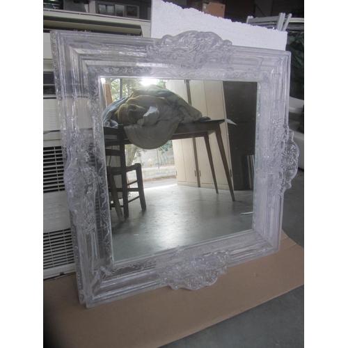 9 - Square Ornate Resin Like Mirror 86 x 86 cm (New)...