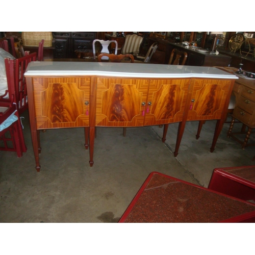 6 - Antique Style Marble Topped Buffet Unit...
