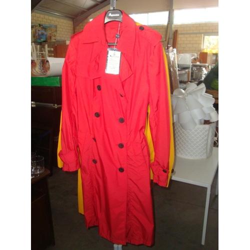15 - Aquascutum London Aquama C WDB Raincoat Red Size   Small (Unused)...
