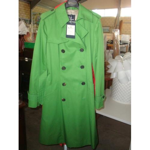 50 - Aquascutum London Lana Raincoat Lime Size 10 (Unused)...