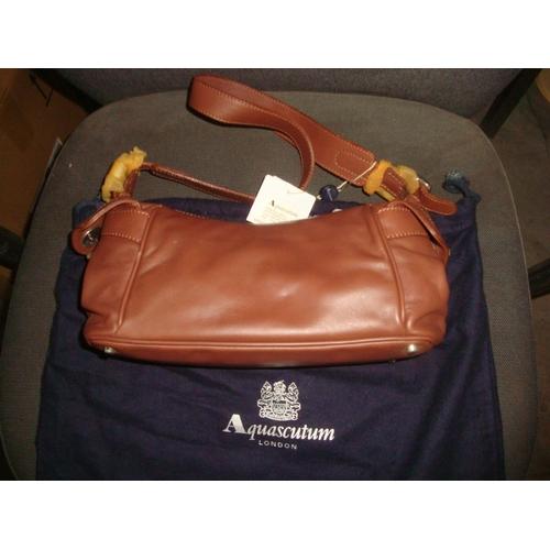 53 - Aquascutum London Windermere Handbag Brown (Unused)...