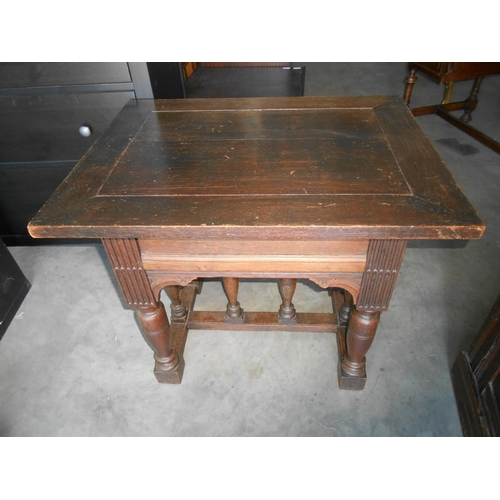 34 - Antique Renaissance (1850) Solid Wood Coffee Table...