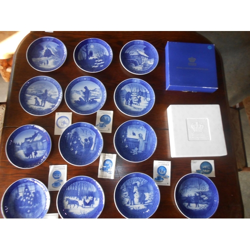25 - x13 Collection of Royal Copenhagen Christmas Themed  Porcelain Plates with Certificates...