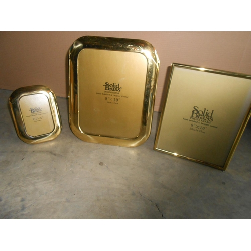40 - x3 Solid Brass Picture Frames...