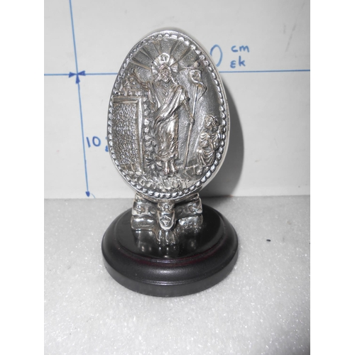 43 - Silver 950 Plated Christian Ornament...