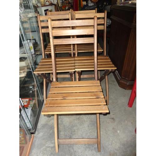 2 - x5 Teak Wood Garden Folding Chairs...