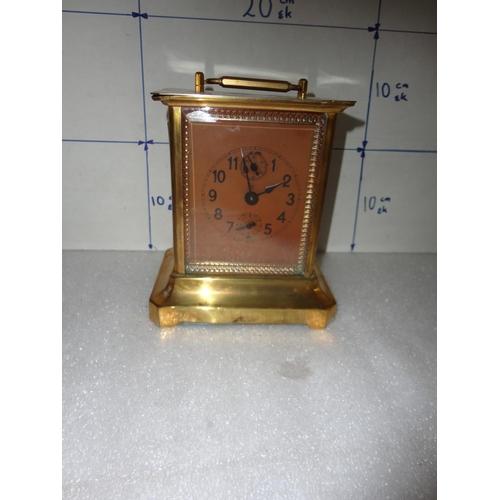 48 - Vintage Brass Clock (a/f)...