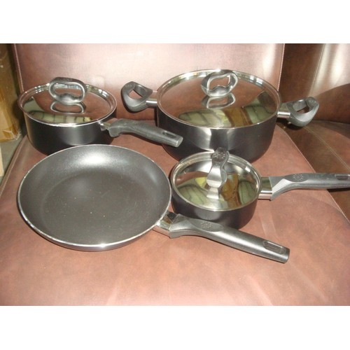 57 - x4 Cooking Pots (New)-Code 'Welcome Kit I'...