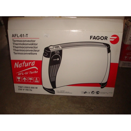 46 - Fagor AFL-61-Turbo Electric Thermoconvertor 2kw (New)...