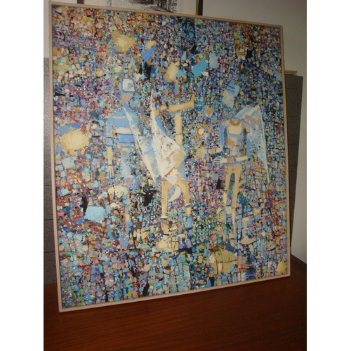42 - Oil on Canvas Abstract Painting by 'Aboeva H.C. 2000'...