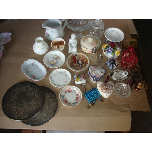 11 - Large Collection of Vintage Collectables Incl. Crystals, Wedgwood, Porcelains etc.....