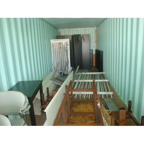 1 - 40ft Shipping Container with Content Incl. Qty of Chairs, Wardrobes etc...