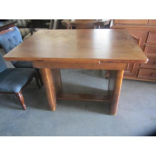 9 - Vintage Solid Teak Wood Extendable Table...