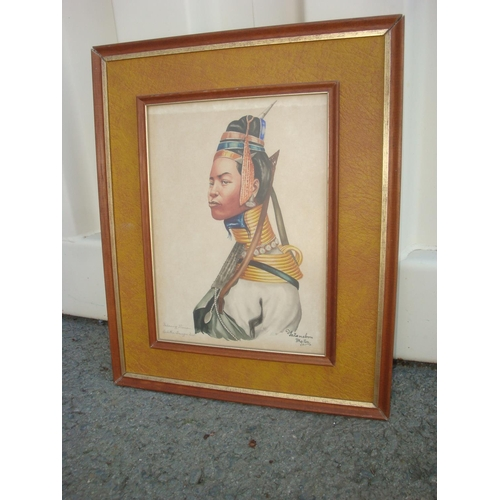47 - Vintage Print Signed and Framed...
