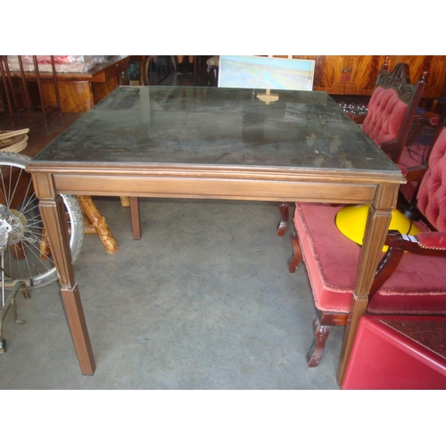 45 - Vintage Solid Walnut Square Coffee Table Converted into Table...
