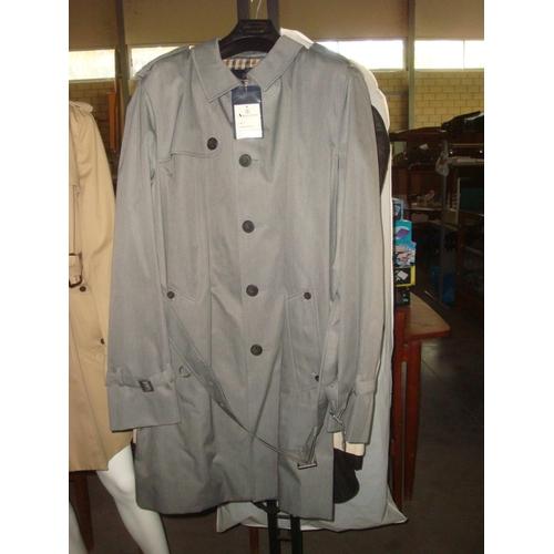 27 - Aquascutum London Mens Fairmount SHT Raincoat Colour Grey Size 46 Reg. (Unused) (B)...