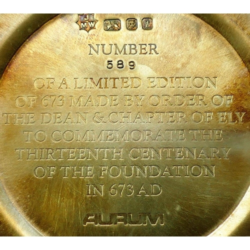 119 - A limited edition silver 'Ely Cathedral Goblet' numbered 589/673, London 1974 by John Willmin for Au...