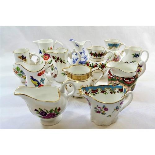 35 - A collection of 12 Royal Worcester replica jugs from the 'Historic Jugs from the Royal Worcester Por...