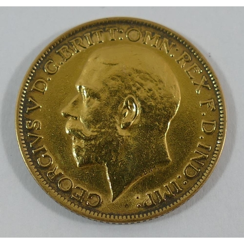 388 - A George V 1917 sovereign...