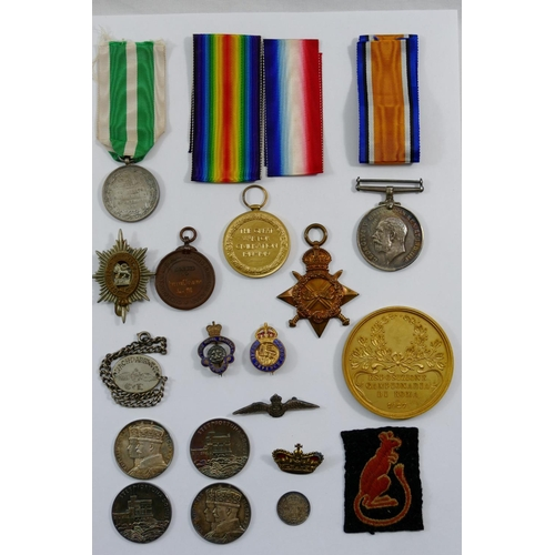 390 - A WW I medal group presented to Lieutenant C E Dashwood of the Royal Army Medical Corps, comprising ...
