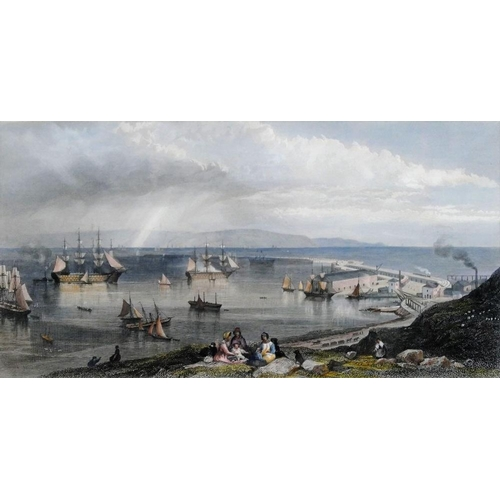 400 - After Edward Duncan RWS (1803-1882) 'Portsmouth Harbour and Dock Yard' Hand coloured engraving by T ...