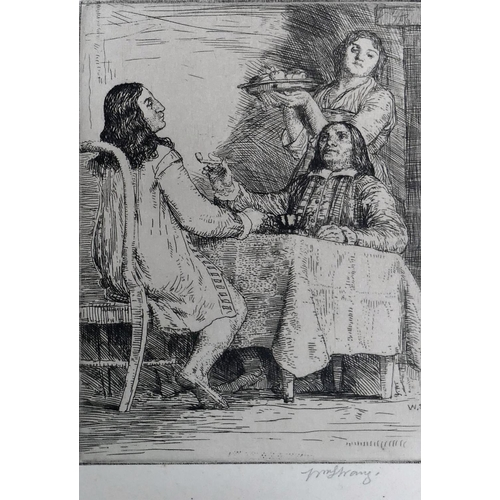 403 - William Strang (1859-1921) Eight etchings from 'The Compleat Angler' by Izaac Walton Published by Fr...