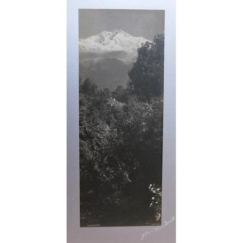 407 - J Burlington Smith (19th/20th century British) Views of Darjeeling Himalayas Three black and white p...