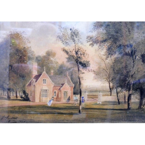 410 - William Railton RA (1800-1877) 'The Lodge at Garendon Park' Watercolour Signed and dated 18th June 1...