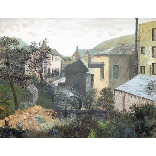 414 - Attributed to David Killick (20th/21st Century British) Yorkshire Mills Oil on canvas Unsigned 70cm ...