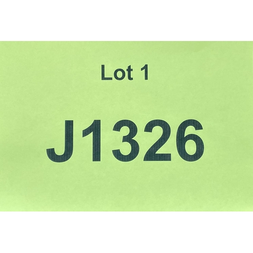 1 - J1326 - a four digit Jersey registration mark (purchaser must be ordinarily resident in Jersey C.I.)...