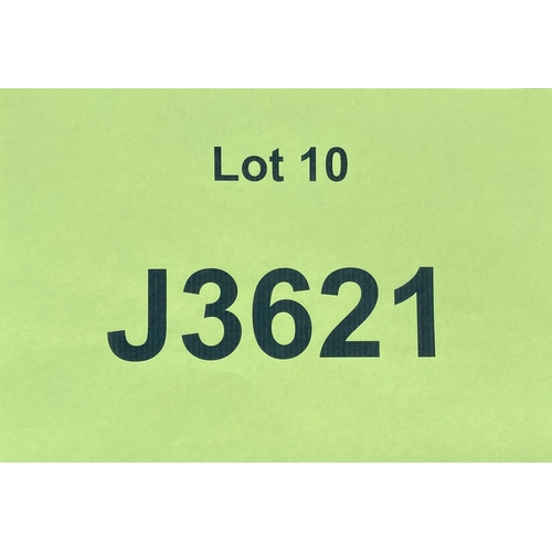 10 - J3621 - a four digit Jersey registration mark (purchaser must be ordinarily resident in Jersey C.I.)...