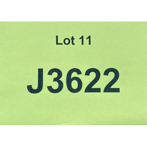 11 - J3622 - a four digit Jersey registration mark (purchaser must be ordinarily resident in Jersey C.I.)...
