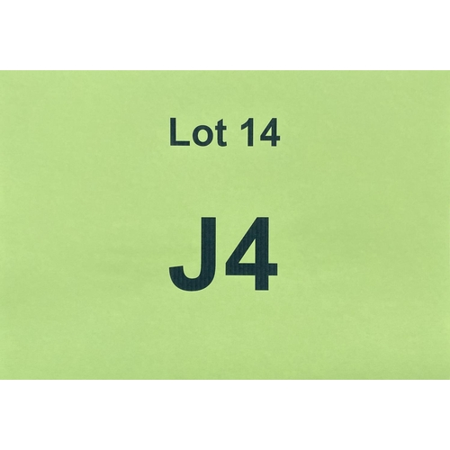 14 - J4  - a single digit Jersey registration mark (purchaser must be ordinarily resident in Jersey C.I.)...