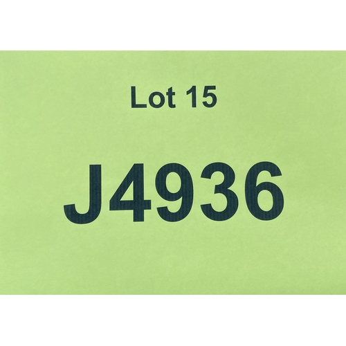 15 - J4936 - a four digit Jersey registration mark (purchaser must be ordinarily resident in Jersey C.I.)...