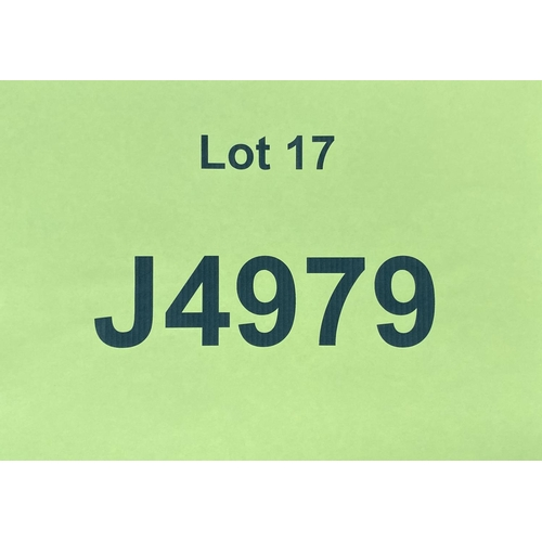 17 - J4979 - a four digit Jersey registration mark (purchaser must be ordinarily resident in Jersey C.I.)...