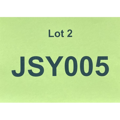 2 - JSY005  - a three digit Jersey JSY registration mark (purchaser must be ordinarily resident in Jerse...